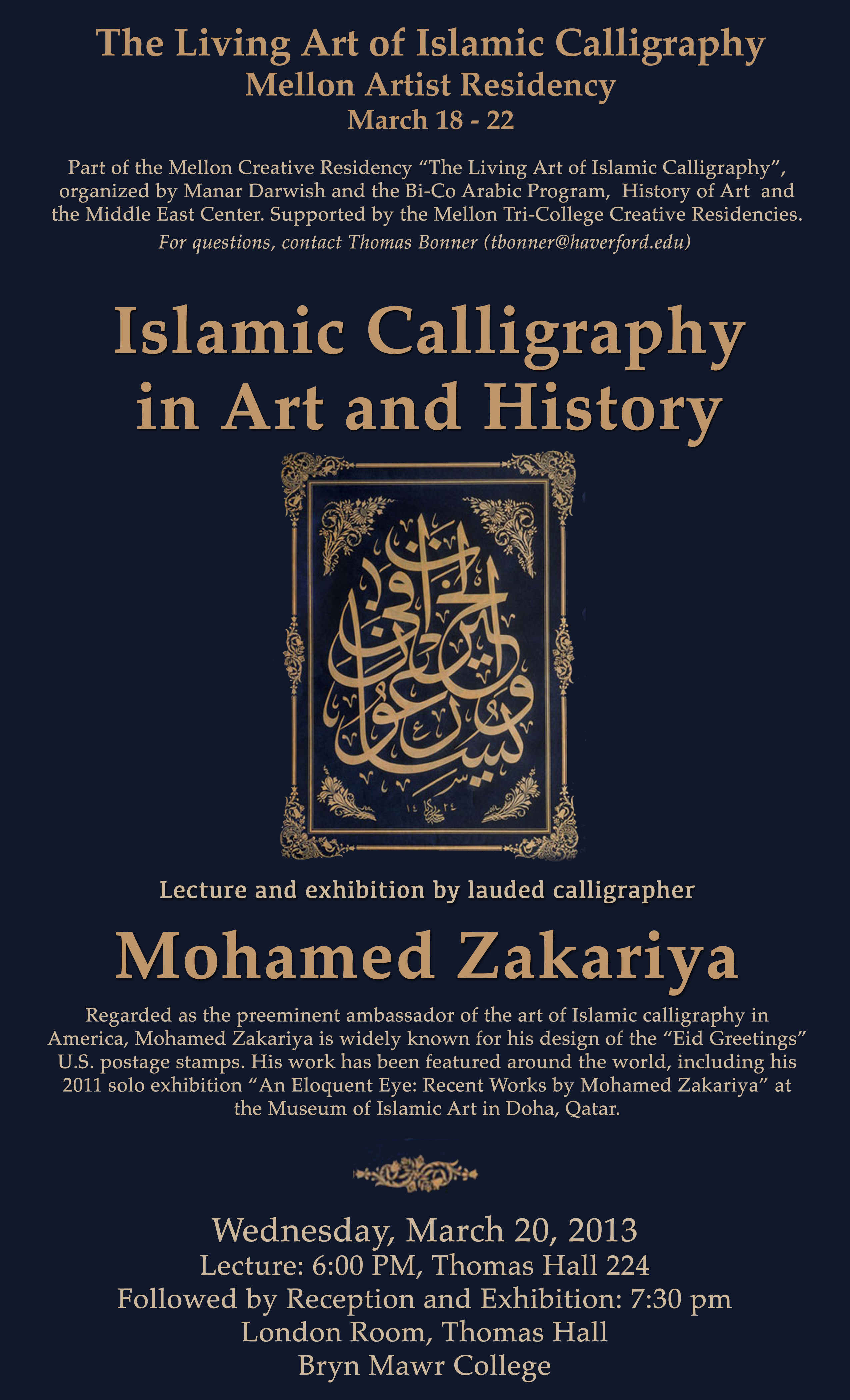March 18 22 The Living Art Of Islamic Calligraphy